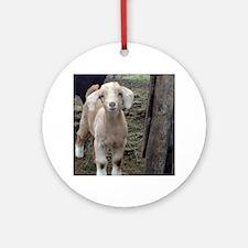 Cute Goat Round Ornament