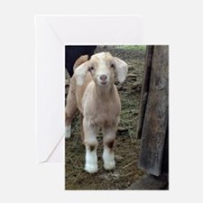 Cute Goat Greeting Card