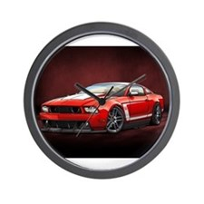Boss 302 Red W Wall Clock