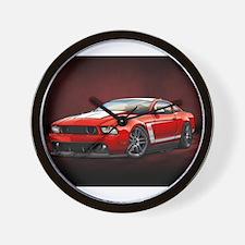 Boss 302 Red W Wall Clock