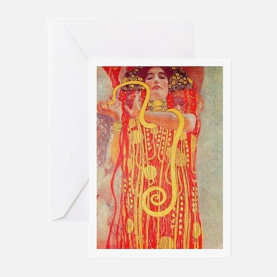 Gustav Klimt Medicine Greeting Cards (10 Pack)
