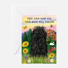 Free Your Hair.....Puli Greeting Card