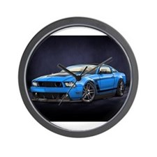 Boss 302 Grabber Blue Wall Clock