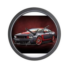 Boss 302 Laguna Seca Black Wall Clock