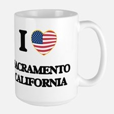 I love Sacramento California USA Design Mugs