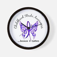 Childhood Stroke Butterfly 6.1 Wall Clock