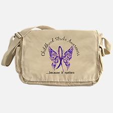 Childhood Stroke Butterfly 6.1 Messenger Bag