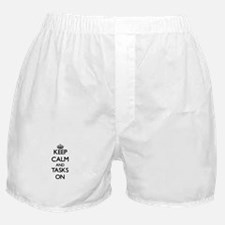 Keep Calm and Tasks ON Boxer Shorts