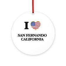 I love San Fernando California US Ornament (Round)