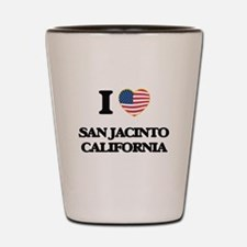 I love San Jacinto California USA Desig Shot Glass