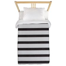 Gray and Black Stripes Twin Duvet