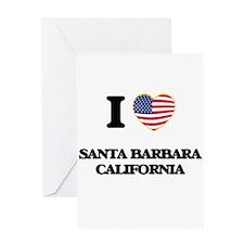 I love Santa Barbara California USA Greeting Cards