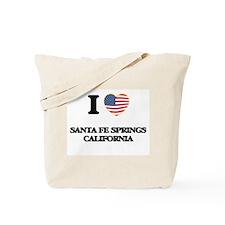 I love Santa Fe Springs California USA De Tote Bag