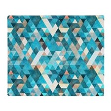 Mixed colors triangles Throw Blanket