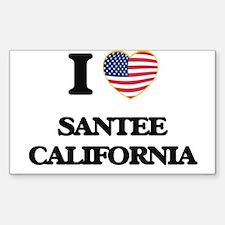 I love Santee California USA Design Decal