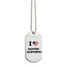 I love Santee California USA Design Dog Tags
