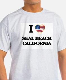 I love Seal Beach California USA Design T-Shirt