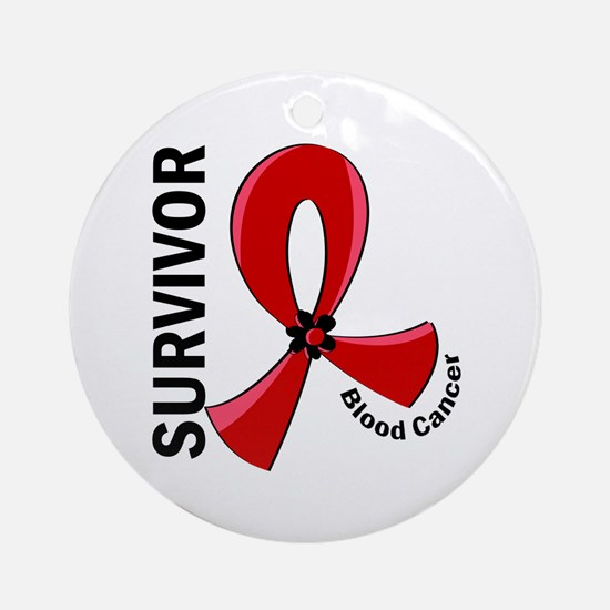 Blood Cancer Survivor 12 Ornament (Round)