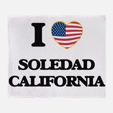 I love Soledad California USA Design Throw Blanket
