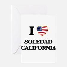 I love Soledad California USA Desig Greeting Cards