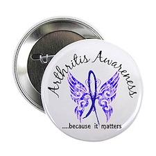 """Arthritis Butterfly 6.1 2.25"""" Button"""