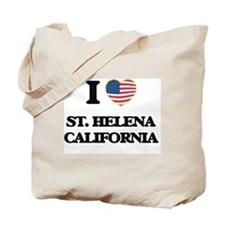 I love St. Helena California USA Design Tote Bag