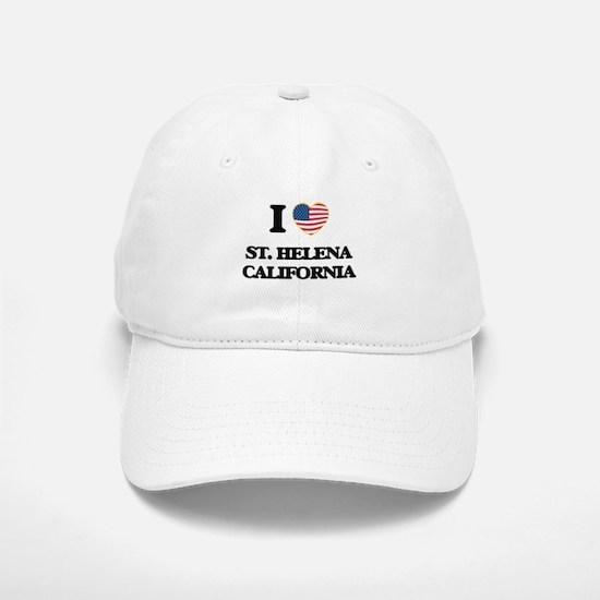 I love St. Helena California USA Design Baseball Baseball Cap