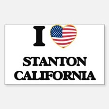 I love Stanton California USA Design Decal