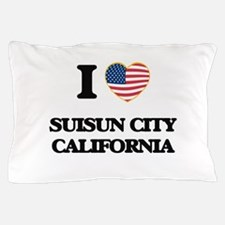 I love Suisun City California USA Desi Pillow Case