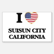 I love Suisun City California USA Design Decal