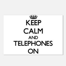Keep Calm and Telephones Postcards (Package of 8)