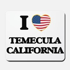 I love Temecula California USA Design Mousepad