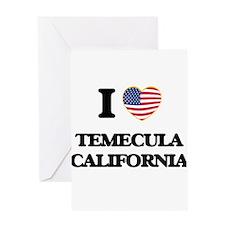 I love Temecula California USA Desi Greeting Cards