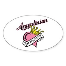 Argentinian Princess Oval Decal
