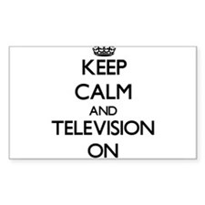 Keep Calm and Television ON Decal