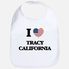 I love Tracy California USA Design Bib