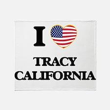 I love Tracy California USA Design Throw Blanket