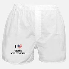 I love Tracy California USA Design Boxer Shorts