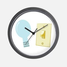 Bulb & Switch Wall Clock