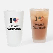 I love Tulare California USA Design Drinking Glass