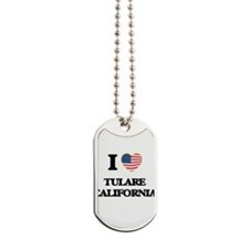 I love Tulare California USA Design Dog Tags