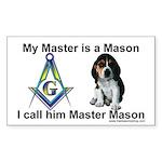 Masonic Dog House Rectangle Sticker