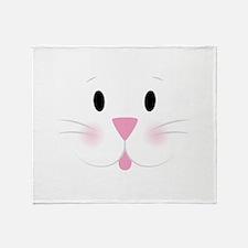 Bunny Face Throw Blanket
