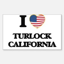 I love Turlock California USA Design Decal