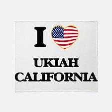 I love Ukiah California USA Design Throw Blanket