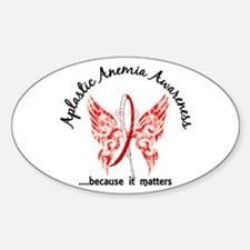 Aplastic Anemia Butterfly 6.1 Sticker (Oval)