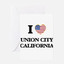 I love Union City California USA De Greeting Cards