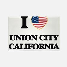 I love Union City California USA Design Magnets