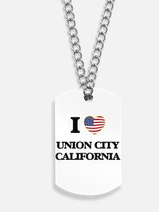I love Union City California USA Design Dog Tags