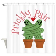 Prickly Pair Shower Curtain